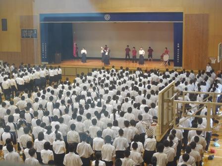 高校:部活動壮行会を行いました