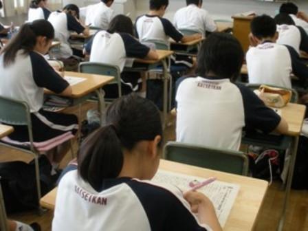 中学2年:第1回漢字検定が終わりました!