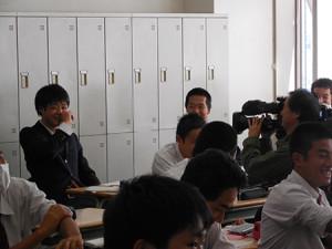 高校3年生 松原 后君(サッカー部所属)がTV取材を受けました