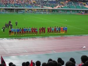 高校サッカー応援(県高校サッカー選手権・準決勝戦)