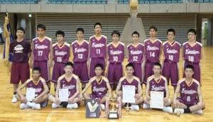 中学男子バスケット 会長杯西部大会、優勝!!