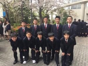 中学男子バスケット 祝8期生入学!
