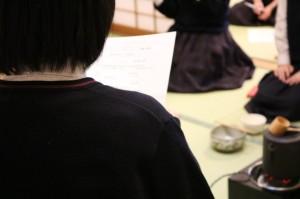茶道部 真澄祭に向けてお手前を練習中です