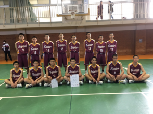中学男子バスケット 県新人大会の結果(最終日)