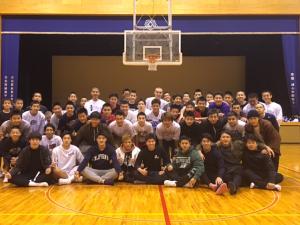 高校男子バスケット「新人戦西部地区予選」結果報告 &新年OBの集い報告