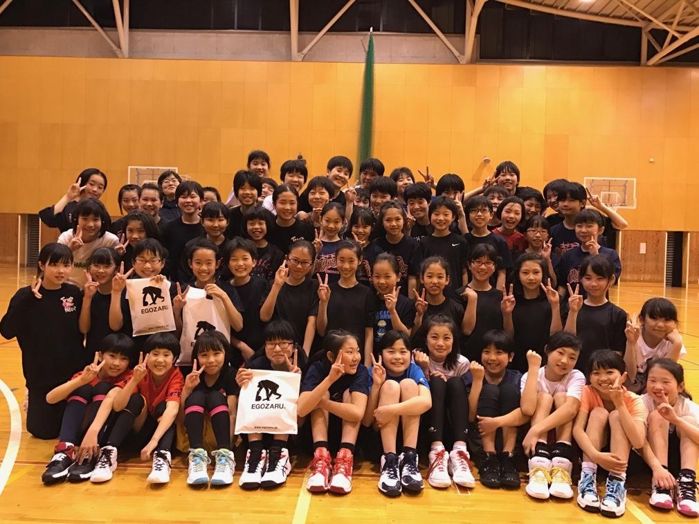 中学女子バスケット! 「チャレンジ無事終了」
