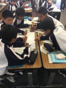 中学1年生 初期指導合宿(4日目)