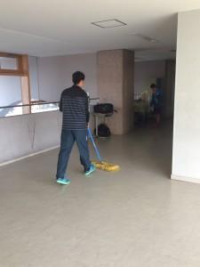 廊下・ロビーの掃除