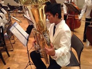 本校生徒も選抜していただきました。本校吹奏楽部副部長。