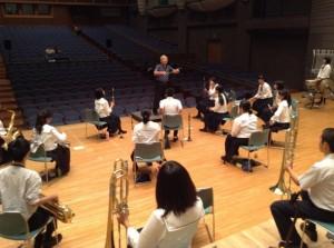 8/3には掛川シオーネでホール練習をしました。