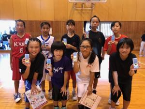 中学女子バスケット! 「ミニバス開誠館杯」の報告
