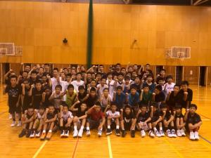 中学男子バスケット 夏チャレンジ開催報告
