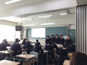 中学2年生 京都フィールドワークの発表会