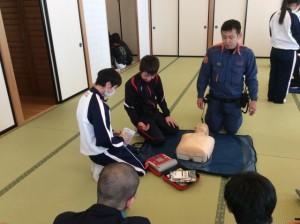保健衛生委員会 AED講習会を行いました