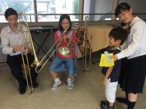 小学1年生の兄弟も参加!一緒に楽器体験しました。