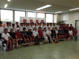 祝 中学サッカー部全国大会出場