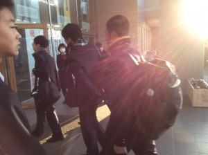 中学生徒会 朝のあいさつ運動