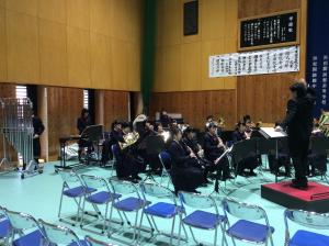 吹奏楽部 卒業式が行われました