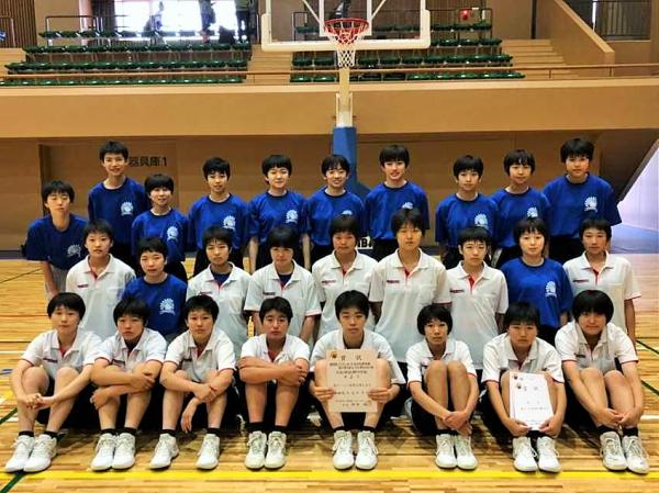 中学女子バスケット! 「会長杯県大会」の結果