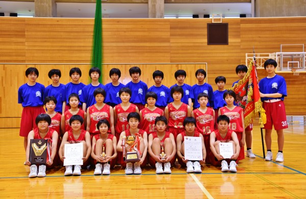 中学女子バスケット! 「会長杯西部大会」結果