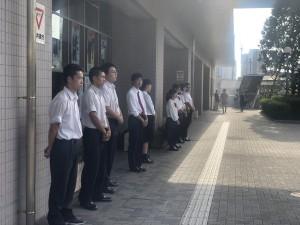 生徒会 朝の挨拶運動