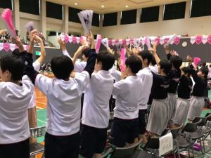 中学女子バスケット! 練習試合とシャンソン応援