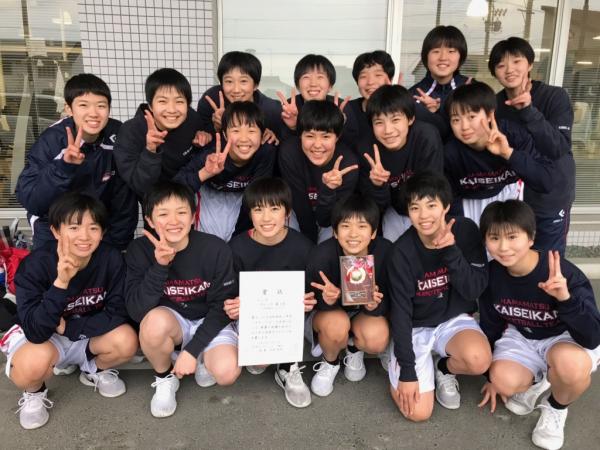 中学女子バスケット! 「1年生大会」の結果