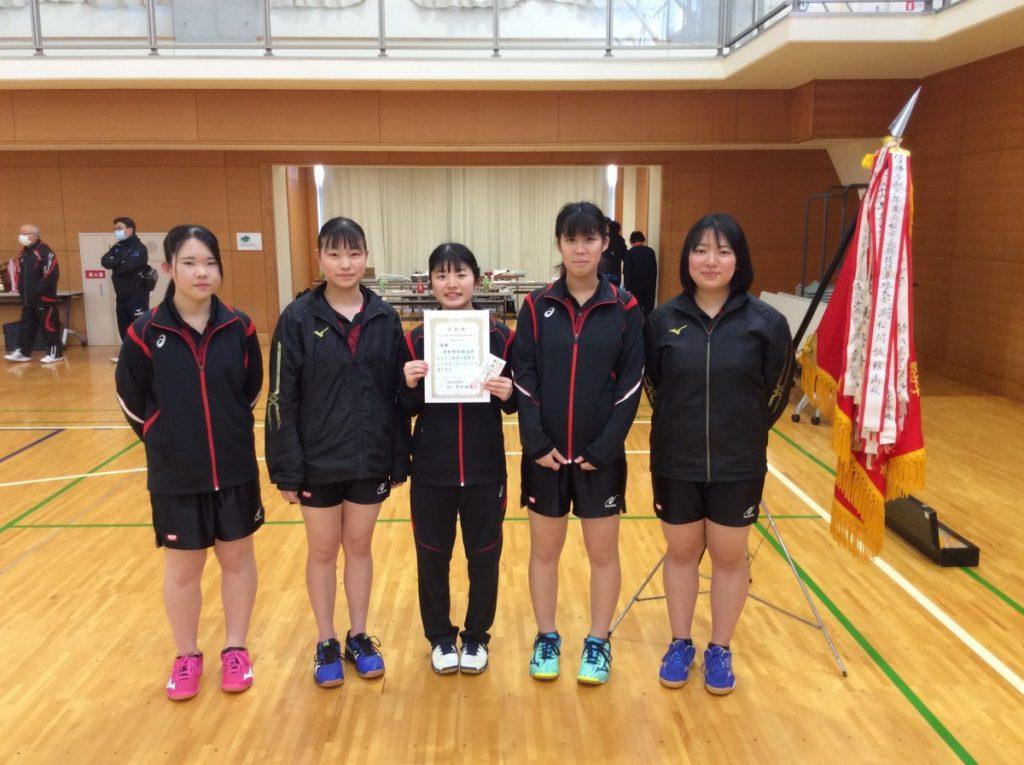 【卓球部】 浜松市長旗杯卓球大会 優勝しました!