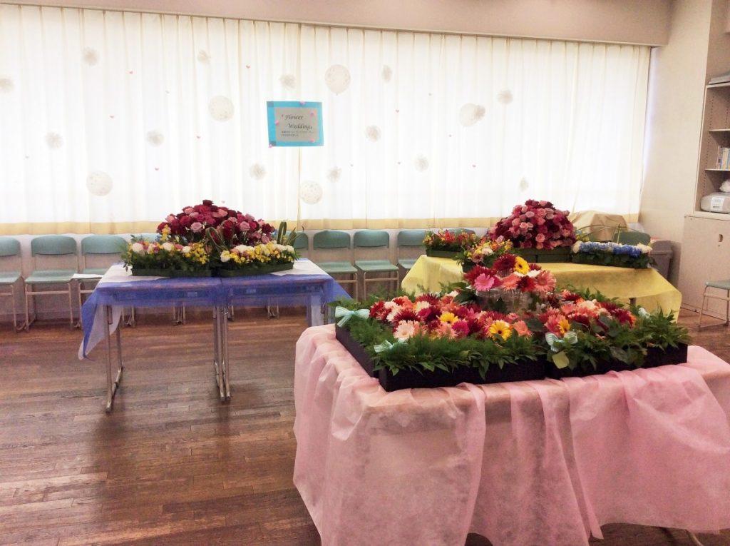 華道部 真澄祭展示『Flower  Wedding』